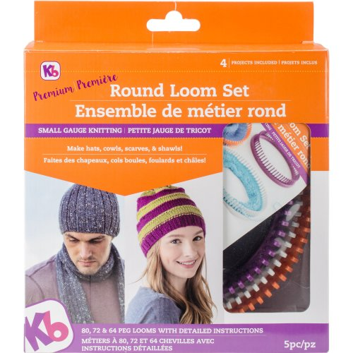 Knitting Board Premium Round Loom Set-