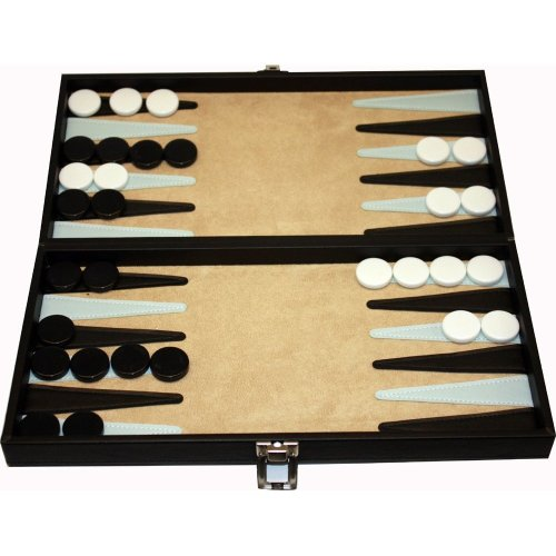 Back Gammon & Chess Set In Luxury Case (35 X 17 X 5.5cm)