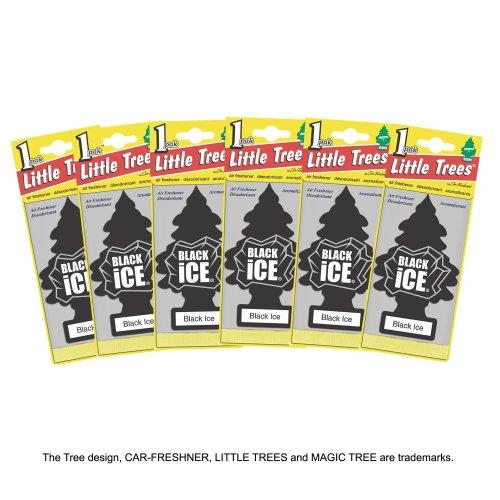 Little Trees MTZ04 Air Fresheners Black Ice, 6 Pieces