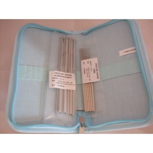 "HobbyGift ""Storage With Style"" Cupcake Design Crochet Hook Carry Case Filled With Aluminium Needles In A Range Of Sizes"