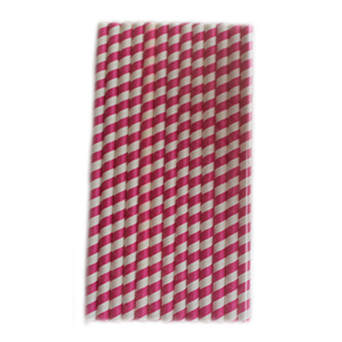 100 Pieces Drinking Straws Disposable Paper Drinking Straws Juice Stirring,Rose