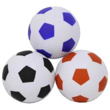 GLOW Soft Play Football Pool Toy - Bright and Colourful 10cm PU Foam Soccer Ball with Classic Hexagon Panel Design – Lightweight Indoor and Outdoor Playing Play Game Safety Sponge World Cup Premiership Footie Training Toy – Suitable for Adults and Ki