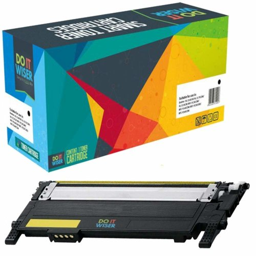 Do it Wiser Compatible Toner CLT-Y406S for Samsung Xpress C410W SL-C460W SL-C460FW SL-C467W CLP-360 CLP-360N CLP-365 CLP-365W CLP-368 CLX-3300...