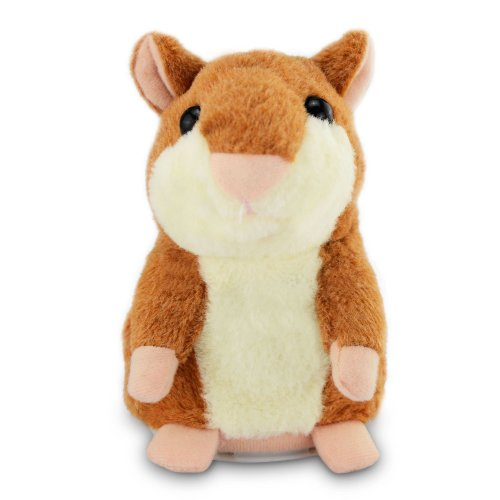 Mystery Talking Hamster Cute Talking Toys Repeats What You Say Plush Animal Toys Electronic Hamster Mouse for Children Kids Birthday Gifts...