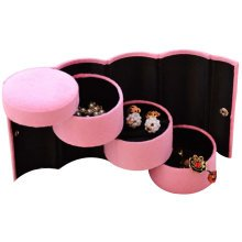 Jewelry Box Ring Earrings Bracelet Watch Necklace Holder Display Stands Pink