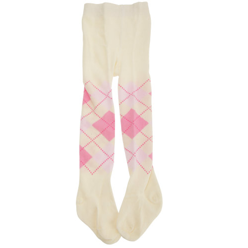 Baby Girls Cotton Rich Argyle Design Tights