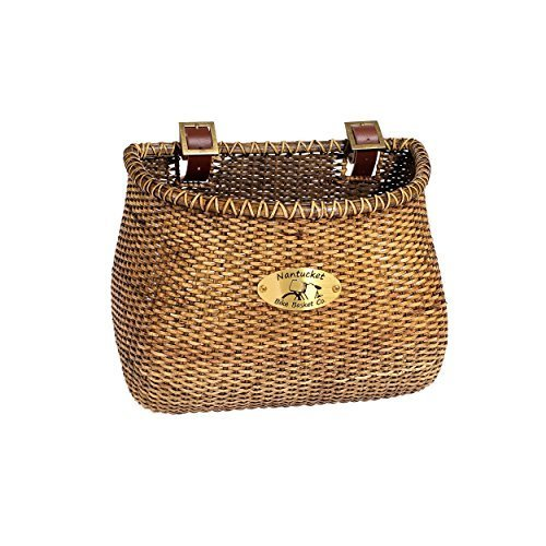 Nantucket Bicycle Basket Co Lightship Collection Adult Bicycle Basket Classic Tapered Stained