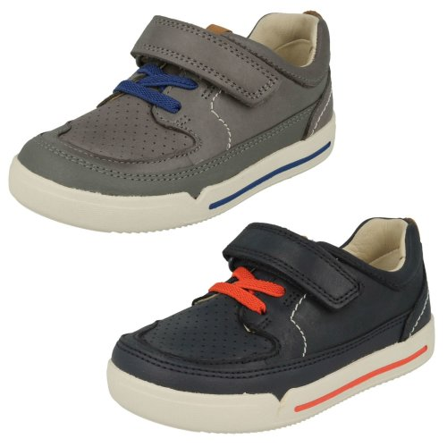 Boys Clarks Casual Hook & Loop Fastening Shoes Mini Oasis - F Fit
