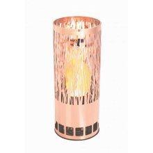 Silk Flame Effect Lamp - Round VINE BRAZIER in Copper
