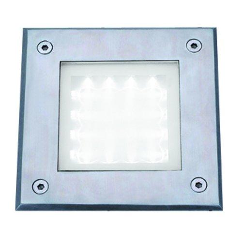 Led Recessed Square Chrome Walkover Light White Led IP67