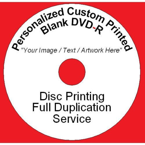 Personalized Custom Printed DVD-R Disc Printing Duplication