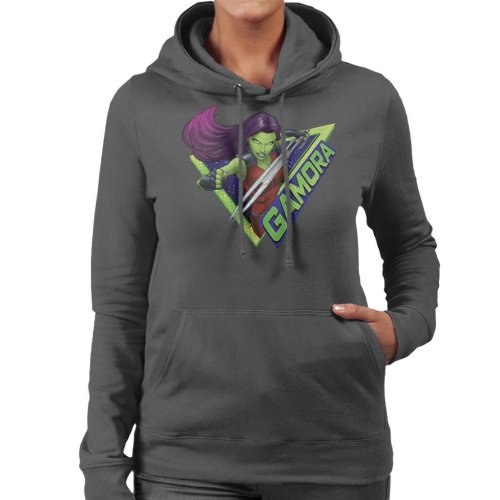 Marvel Guardians Of The Galaxy Cartoon Gamora Godslayer Women's Hooded Sweatshirt