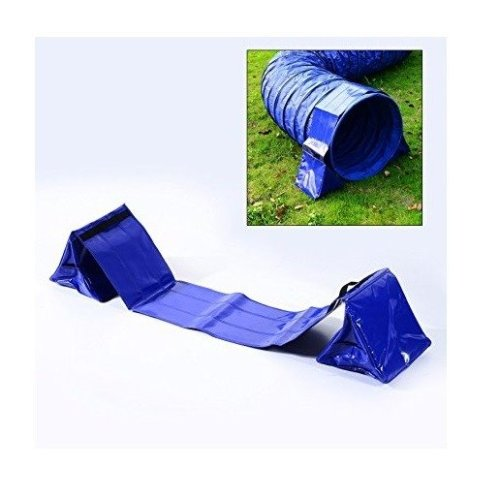 Pawhut Pvc Pet Tunnel Support Sand Bags Holder Fixation Dog Agility Exercise Training Steady for 60cm Tunnel (without Tunnel)