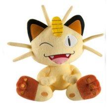 """Genuine Boxed Tomy Pokemon Meowth Winking - Large Plush Toy - 10 """" (26 cms)"""