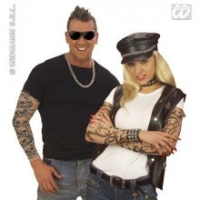 Tattoo Sleeves Natural Look - Pair -  tattoo sleeves arm tights natural look pair 2 pull over gag party 7106