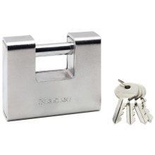 Master Lock Armoured Padlock Hardened Steel 90 mm 690EURD