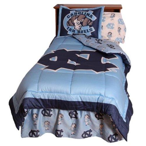 College Covers NCUCMQU UNC Reversible Comforter Set- Queen