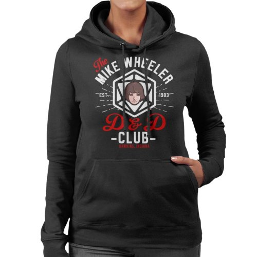 Stranger Things Mike Wheelers D And D Club Women's Hooded Sweatshirt