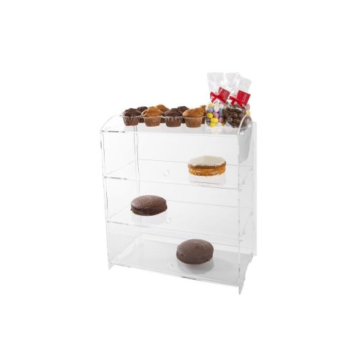 3-Tier Acrylic Cake Case | Triple Layer Bakery Display Stand