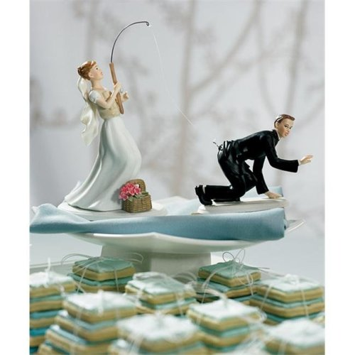 Weddingstar 7103  Fishing  Bride Mix & Match Cake Topper- Non-Caucasian- Bride Only