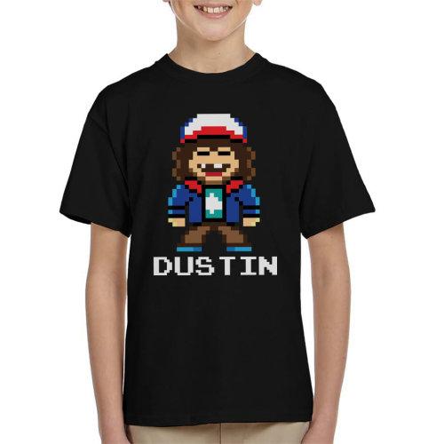 Pixel Dustin Stranger Things Kid's T-Shirt