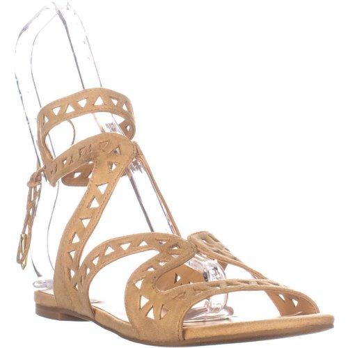 Daya by Zendaya Stella Flat Sandals, Buff Micro, 7.5 UK