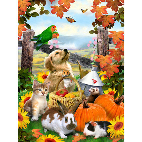 "Junior Small Paint By Number Kit 8.75""X11.75""-Autumn Festival"