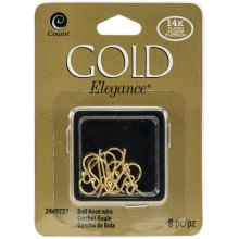 14k Plated Gold Elegance Beads & Findings-Small Ball Hooked Earrings 8/Pkg