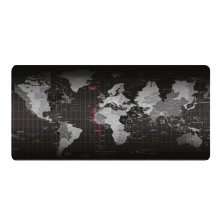 World Map Office Mouse Mat Large Size Black Game Mouse Pat
