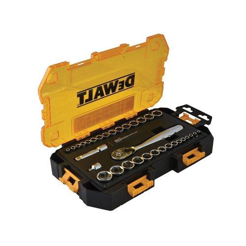 DeWalt DWMT73804 Tough Socket Set 34 Piece 1/4in & 3/8in Drive