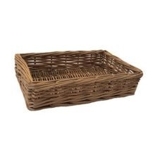 Large Double Steamed Wicker Storage Tray