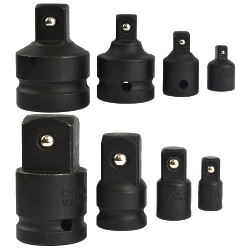"Socket Adapter Adaptor Reducer Step Up Set Imapct 1/4"" - 1"" 8pc Set TE813"