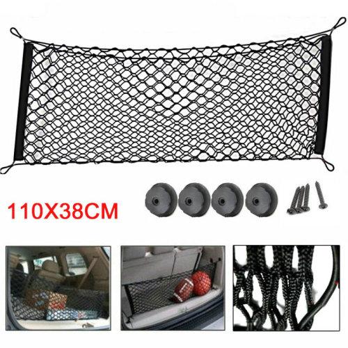 110x38cm Car Trunk Luggage Storage Cargo Luggage Nylon Elastic Mesh Tidy Net