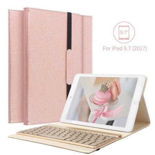 "iPad 9.7 Keyboard Case, KVAGO Folio Bluetooth Wireless Keyboard Cover For Apple iPad 9.7"" 2017/2018 Release Tablet - Smart Case with Auto Sleep /..."