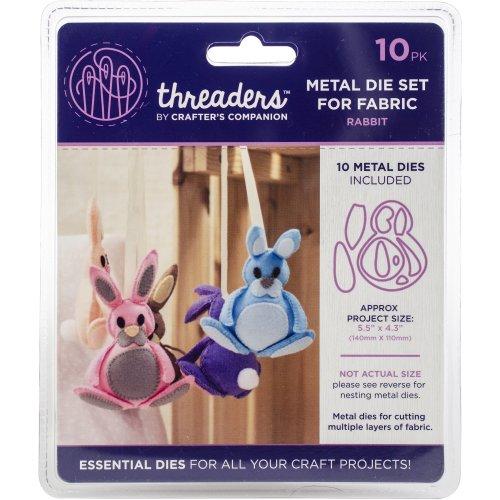 "Crafter's Companion Threaders Metal Fabric Nesting Dies -Rabbit Project 5.5""X4.3"" 10/Pkg"