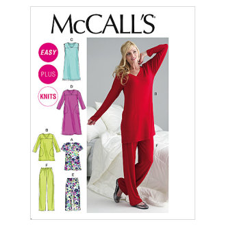 Misses'/Women's Top, Tunic, Gowns and Pants-B5 (8-10-12-14-16) -*SEWING PATTERN*