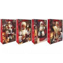 Ex Traditional Christmas Glitter Gift Bag -