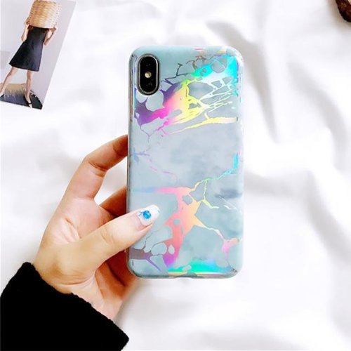 premium selection 74e07 76179 Marble Holographic Hard Casephone-6-6s