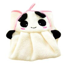 Cute Hand Towels Soft Thick Hanging Drying Wipe Dish Cloth for Kitchen Bathroom