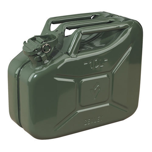 Sealey JC10G 10ltr Jerry Can - Green