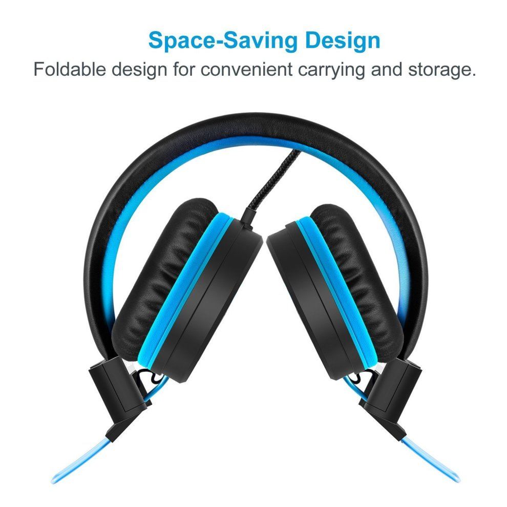 4bca1aaf0f9 ... Foldable Kids Headphones - iClever Wired Headphones for Kids,  Adjustable Headband, Stereo Sound, ...