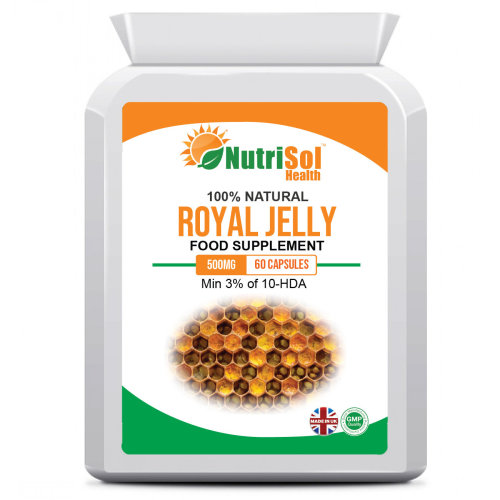 Royal Jelly 500mg 60 Capsules Antioxidant Antiageing Immune Young Skin
