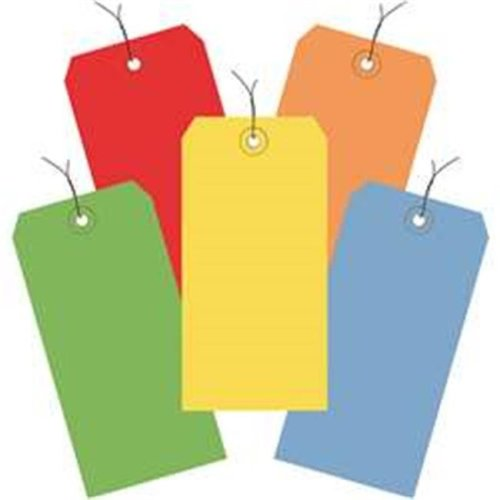 Box Partners G20003 4.75 x 2.38 in. Assorted Color 13 Point Shipping Tags - Pre-Wired - Pack of 1000
