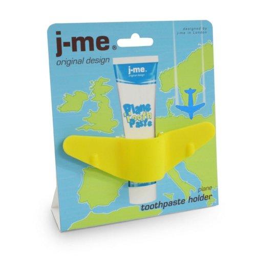 j-me Plane Aeroplane Childrens Toddler Toothpaste Holder Yellow Fun Great Gift