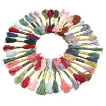 40 Color Three-Dimensional Embroidery Cross Stitch Line CVC Yarns Spinning 8m/Branched