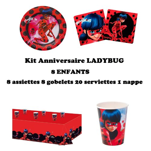 Uni Que Miraculous Ladybug Complete Party Supplies Pack For 8 Children Plates