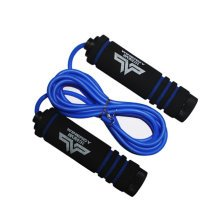 Jump Rope for Fitness Training,Athletic Speed Rope 3M Rubber Skip Rope Blue