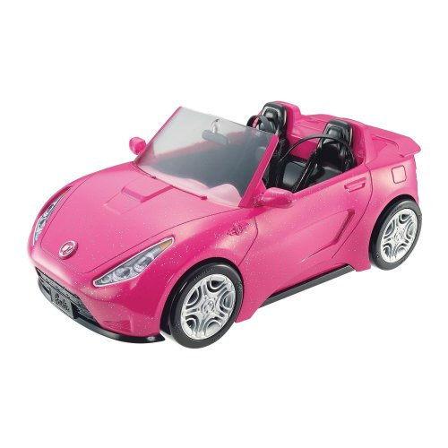 Barbie DVX59 ESTATE Glam Convertible Pink Toy, Plastic Sports Car for Doll Vehicle