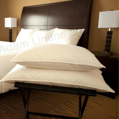 Adam Linens 2x Luxury Duck Feather and Down Pillow, Comfortable Extra Filling