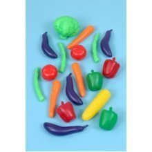 Childrens 20 Piece Vegetable Food Play Set (A1438)